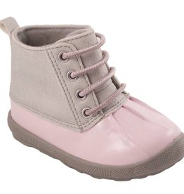 Trimfoot Co. Pink Duck Boot w/ Silver Shimmer