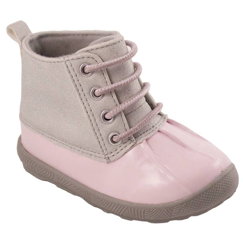 Pink Duck Boot w/ Silver Shimmer
