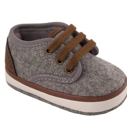 Trimfoot Co. Grey Heathered Faux Wool Sneaker