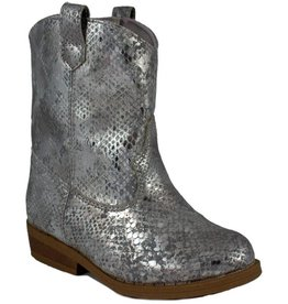 Trimfoot Co. Grey/ Silver Snakeskin Print Western Boot