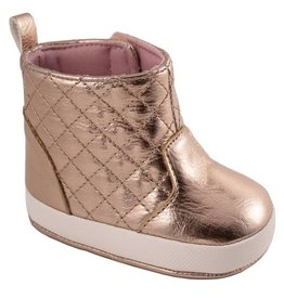 Trimfoot Co. Rose Gold Metallic Hi Top w/ Quilted Shaft