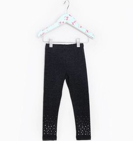 MaeLi Rose Rhinestone Legging Charcoal