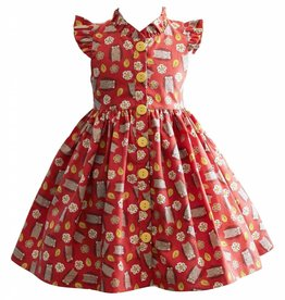 Little Miss Marmalade Glen Park Dress Hedgehog Print