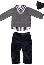 Fore!! Axel & Hudson LS Grey Sweater Knit Set & Bow Tie