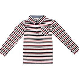 Fore!! Axel & Hudson LS Multi Stripe Pocket Polo