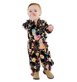 Masala Baby Ellie One Piece Cheetah Floral Navy