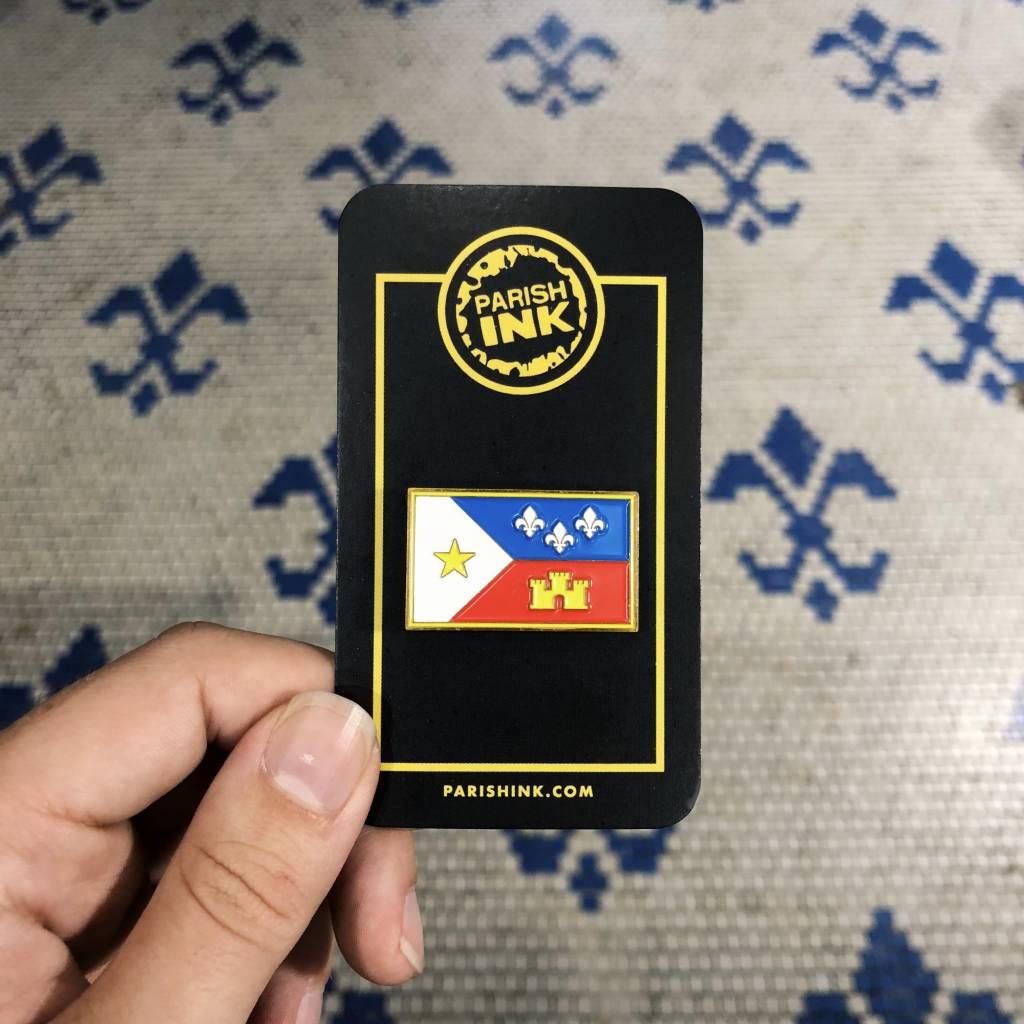 Acadian Flag Enamel Pin