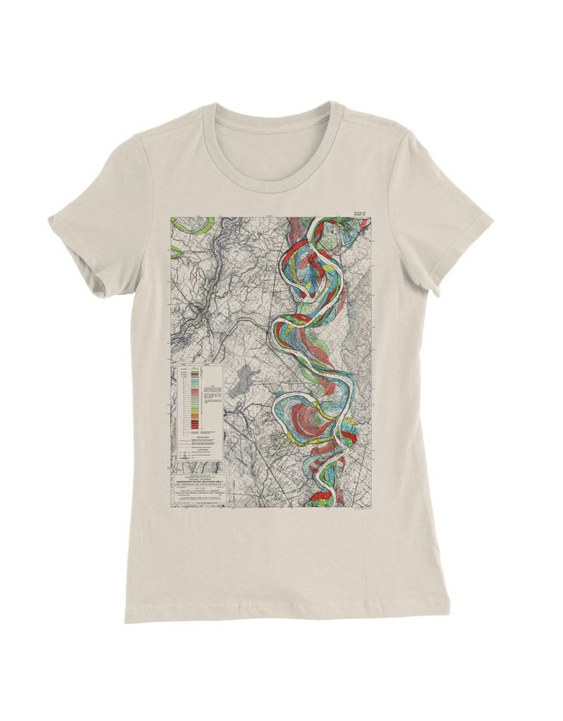 Mississippi River Print #14 Womens Tee