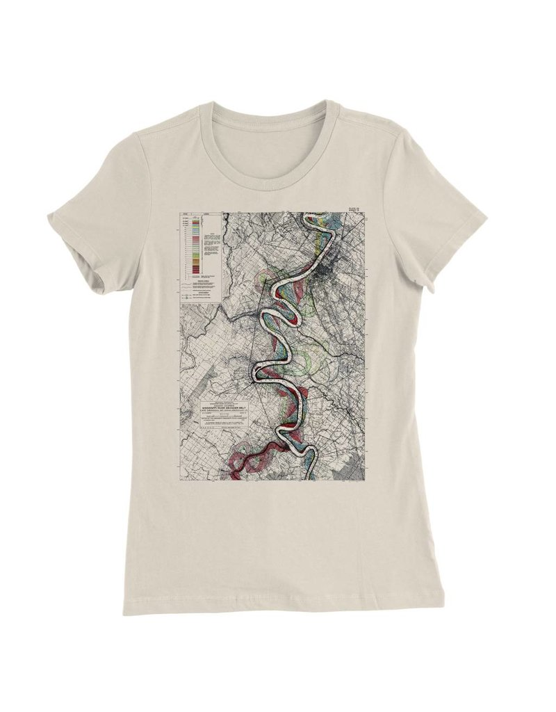 Mississippi River Print #15 Womens Tee