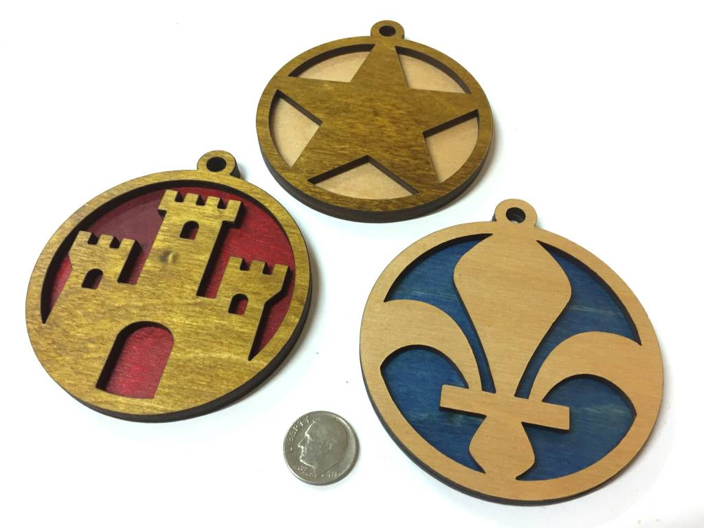 Acadian Elements Ornament Set