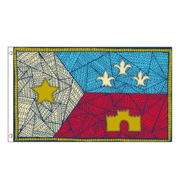 3X5 Patchwork Acadian Flag