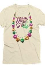 Mardi Gras Beads Womens Tee
