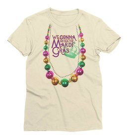 Mardi Gras Beads Womens Tee