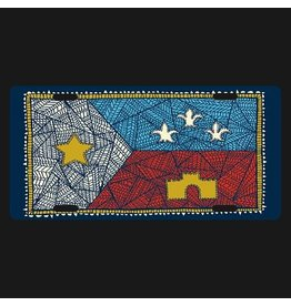 Patchwork Acadian Flag License Plate