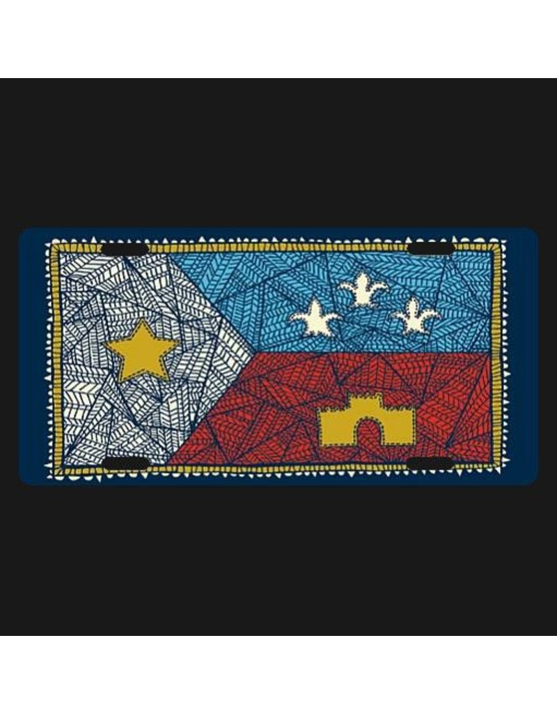 Patchwork Acadian Flag License Plate