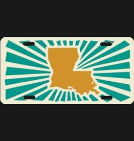 Louisiana Power Orange License Plate