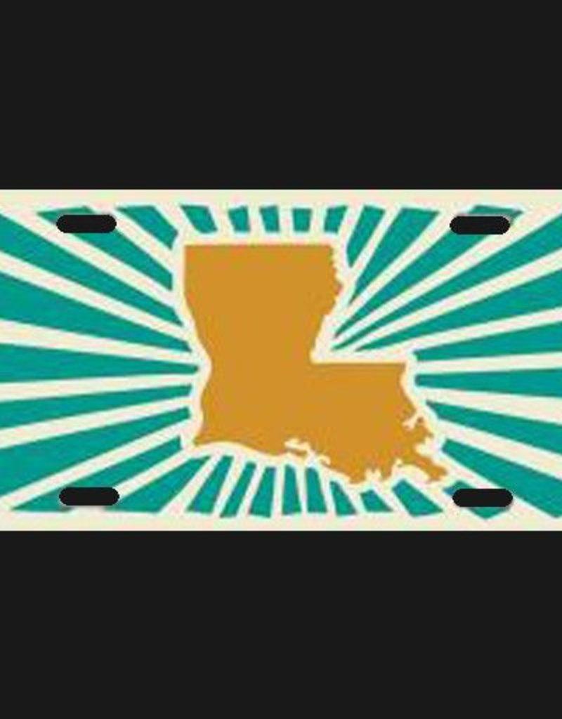 Louisiana Power Orange License Plate