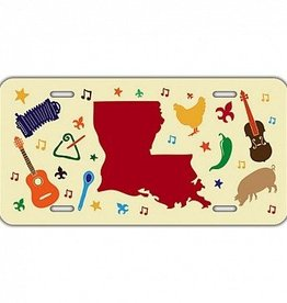 Louisiana Elements License Plate