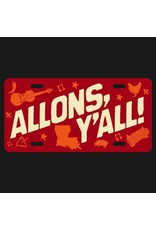 Allons Yall License Plate