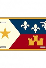 Acadian Flag License Plate