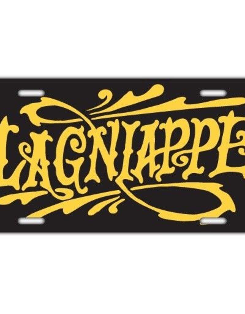 Lagniappe Black License Plate