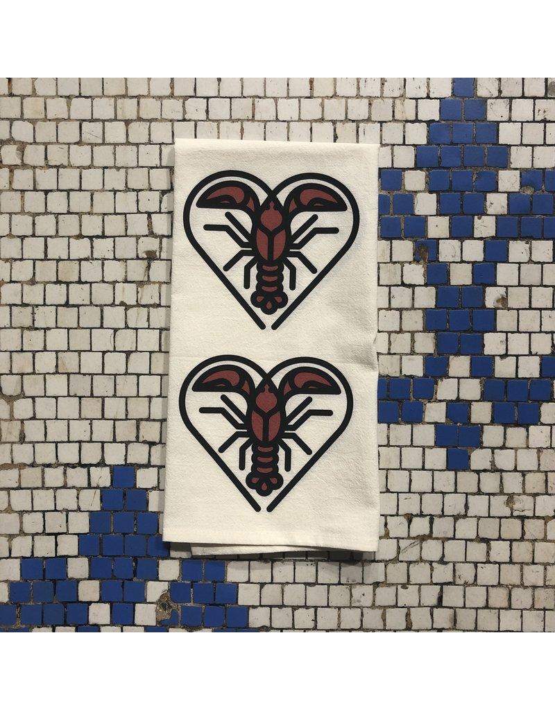 Crawfish Heart Tea Towel