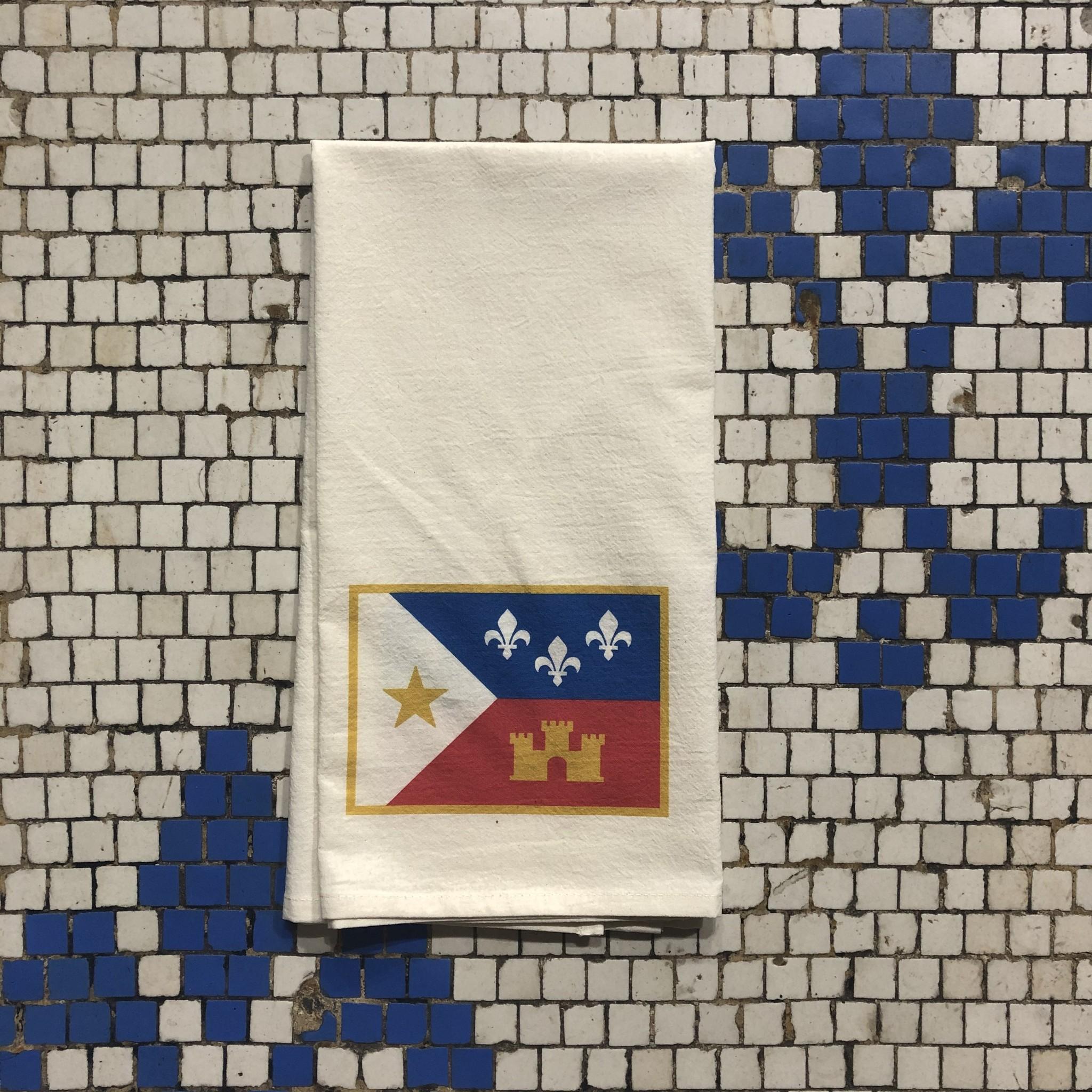 Acadian Flag Tea Towel