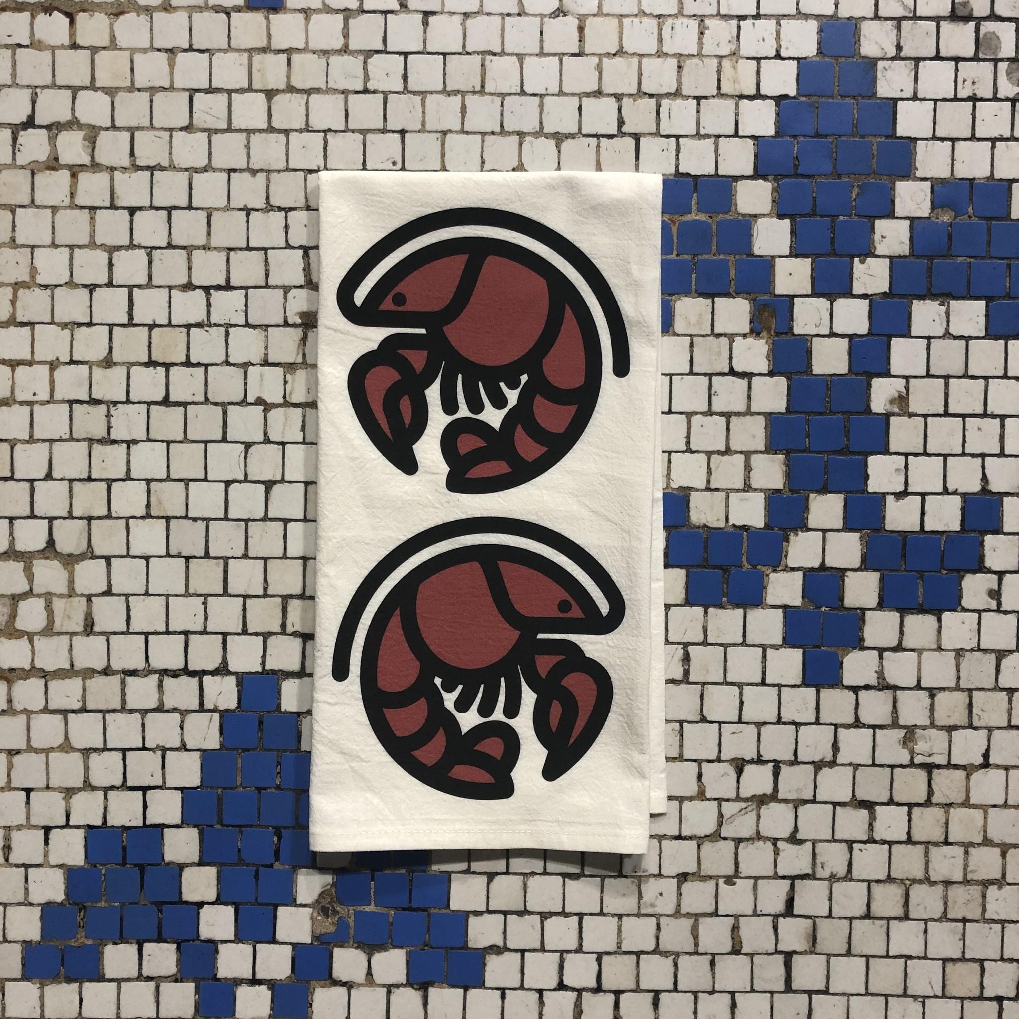 Crawfish Icon Tea Towel