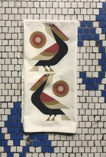 Perched Pelican Tea Towel
