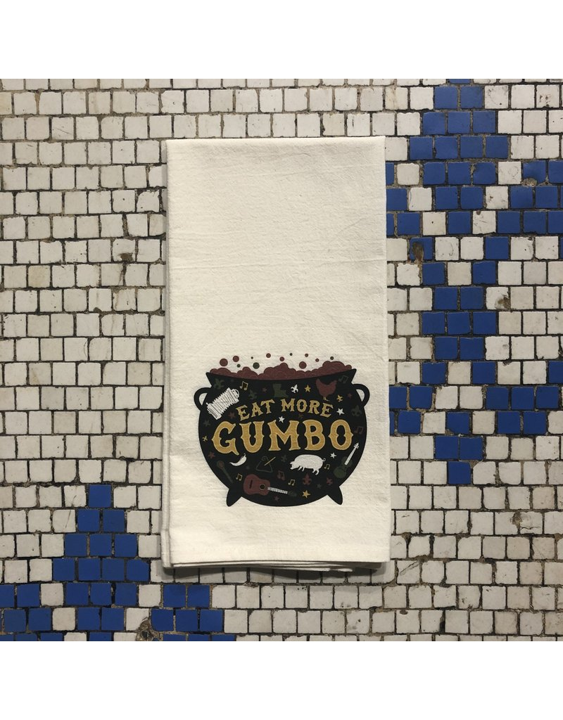 Eat More Gumbo Tea Towel