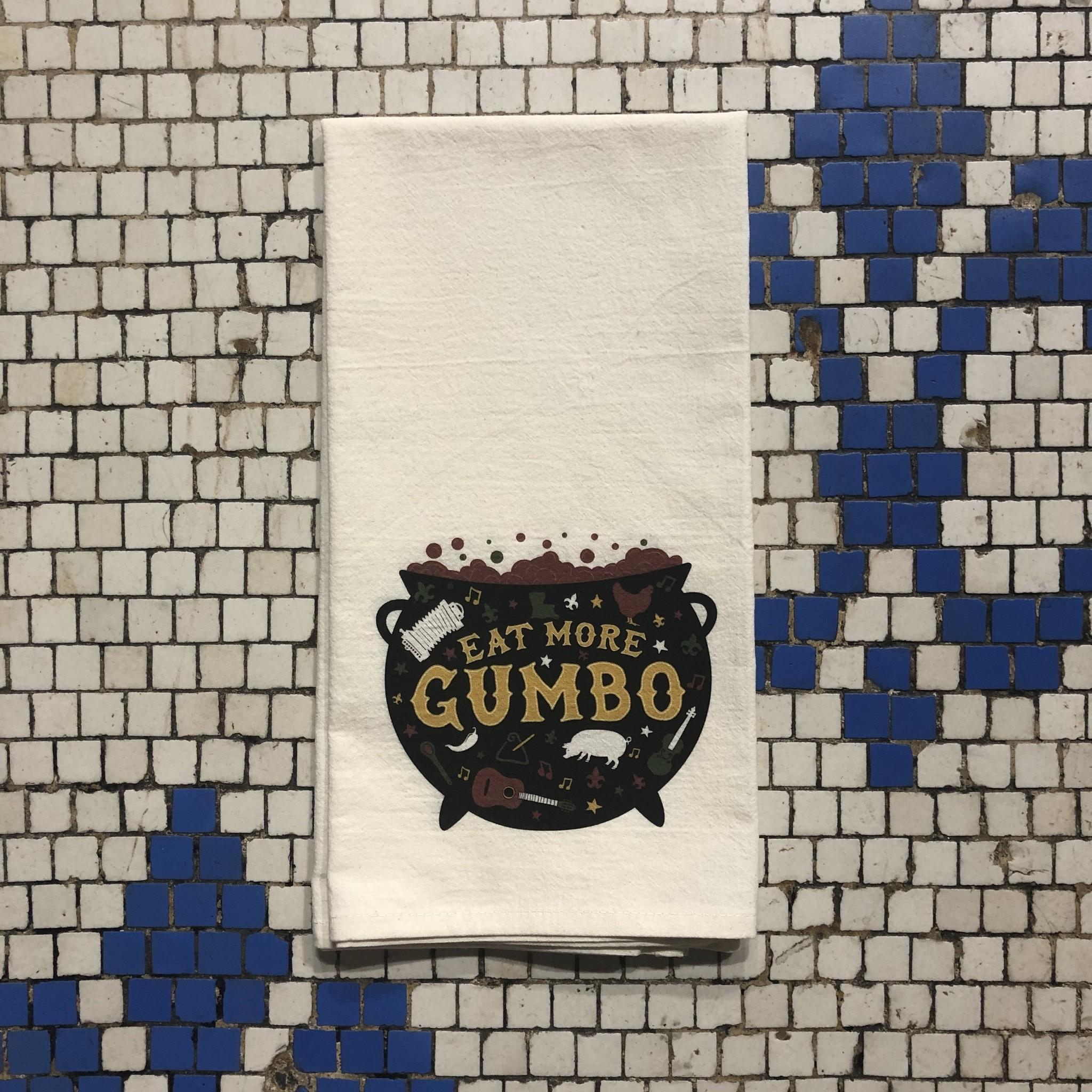 Eat More Gumbo Tea Towel