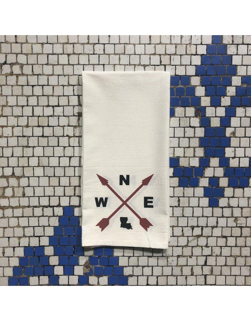 Louisiana Compass Tea Towel