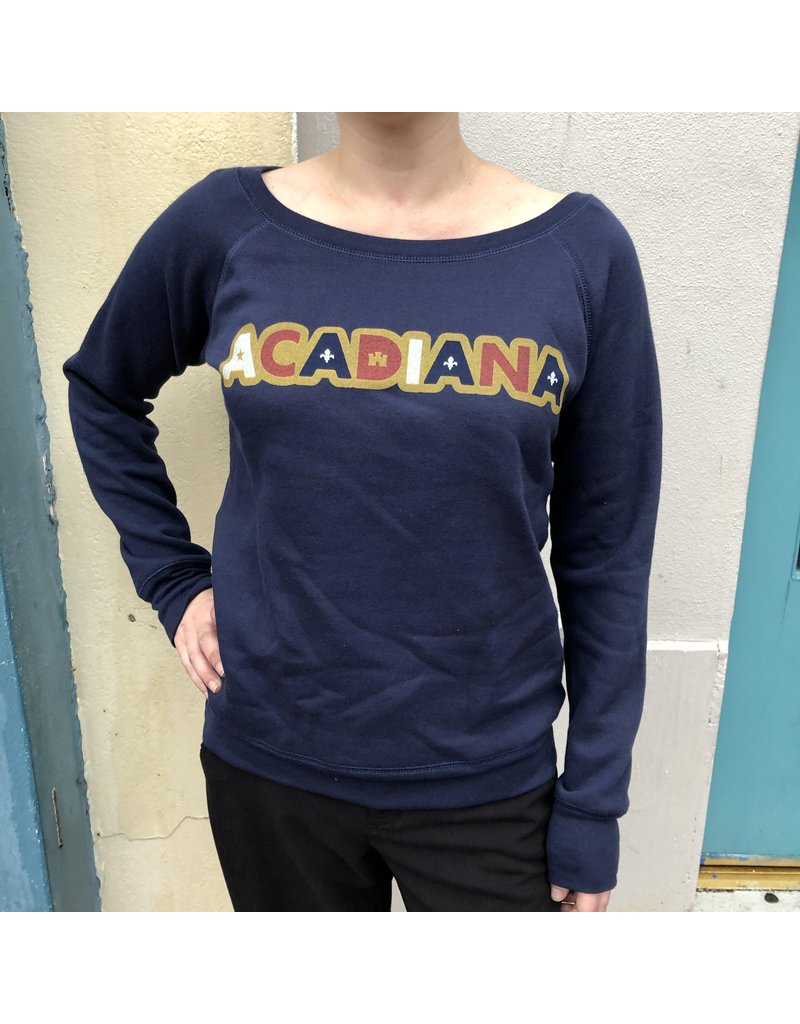 Acadiana Sticker Womens Sweatshirt