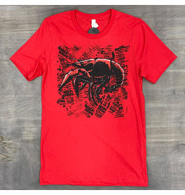 Crawfish Newsprint Mens Tee