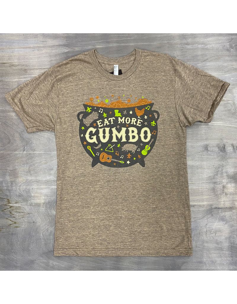 Eat More Gumbo Mens Tee