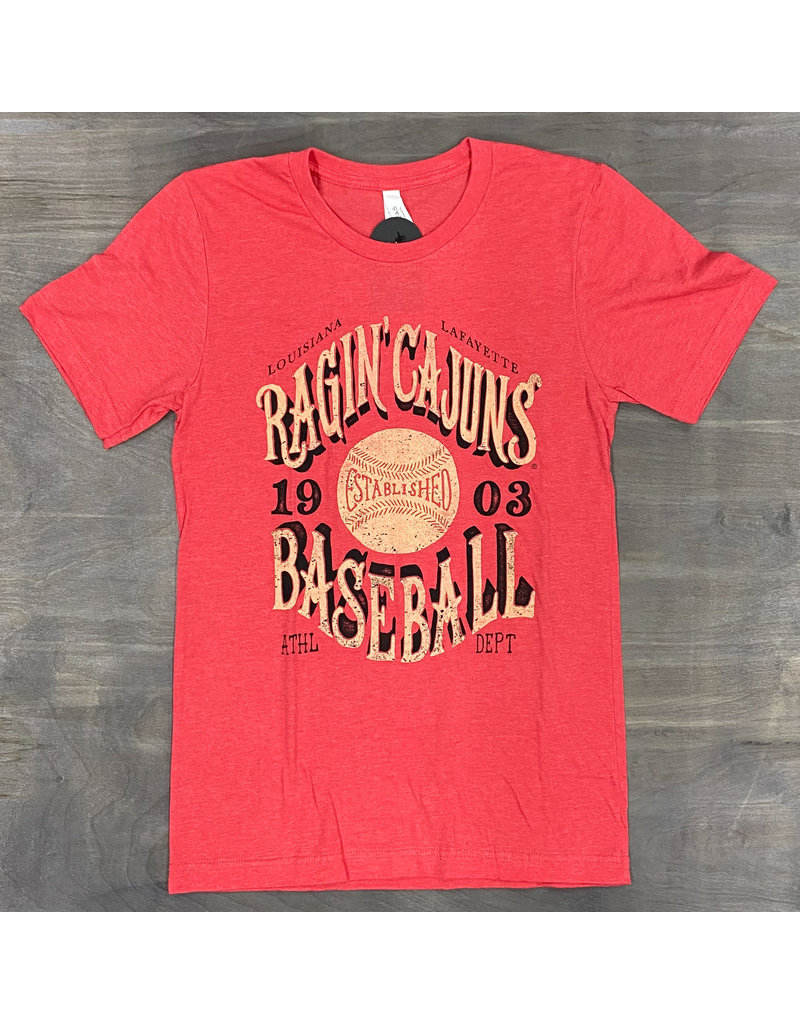 Ragin' Cajuns Baseball 1903 Mens Tee