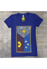 Patchwork Acadian Flag Womens Tee