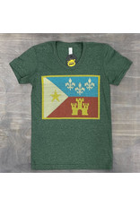 Acadian Flag Sweater Womens Tee