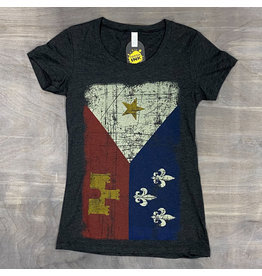Acadian Flag Womens Tee