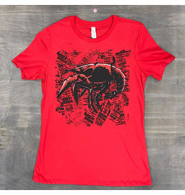 Crawfish Newsprint Womens Relaxed Fit Tee