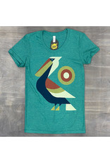 Perched Pelican Womens Tee