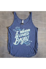 I Wanna Be Loved Bayou Womens Flowy Side Slit Tank