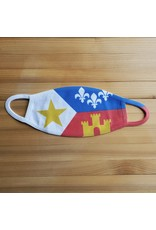 Cotton Face Mask - Acadian Flag