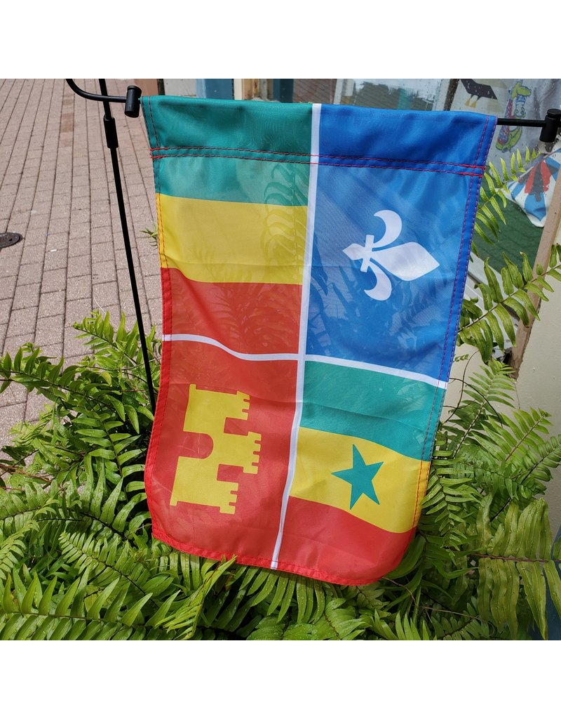 Creole Flag 12x18 Garden Flag