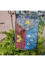 Patchwork Acadian Flag 12x18 Garden Flag