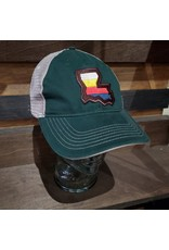 Louisiana Stripes Unstructured Trucker Hat