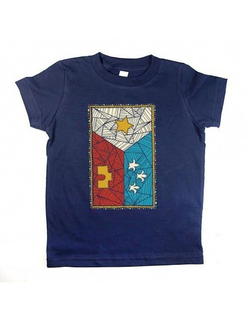 Patchwork Acadian Flag Toddler Tee