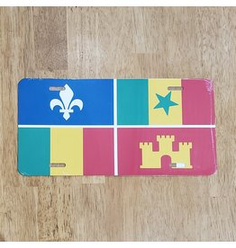 Creole Flag License Plate