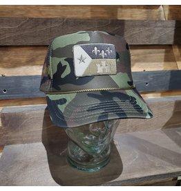 Camo Acadian Flag Camo Trucker Hat