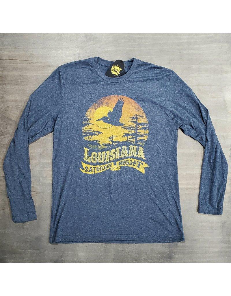Louisiana Saturday Night Mens LS Tee